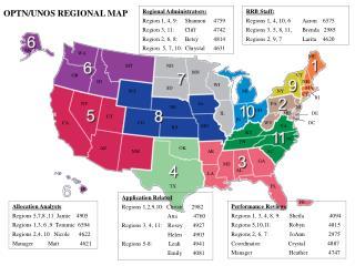 OPTN/UNOS REGIONAL MAP