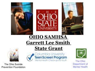 OHIO SAMHSA  Garrett Lee Smith  State Grant