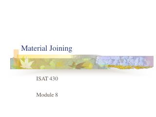 Material Joining