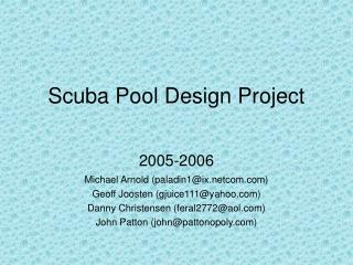 Scuba Pool Design Project