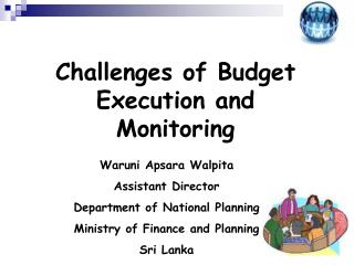 Challenges of Budget Execution and Monitoring