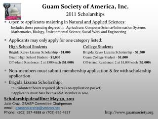 Open to applicants majoring in  Natural and Applied Sciences :