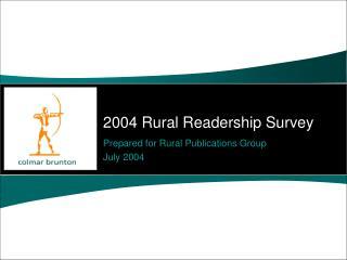 2004 Rural Readership Survey