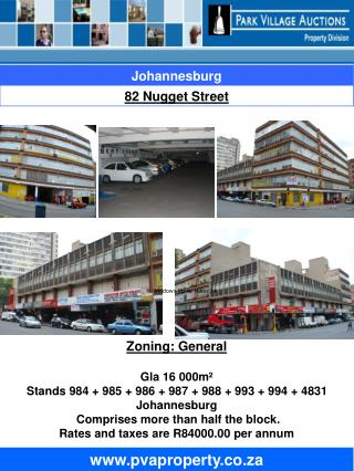 Zoning: General Gla 16 000m� Stands 984 + 985 + 986 + 987 + 988 + 993 + 994 + 4831 Johannesburg
