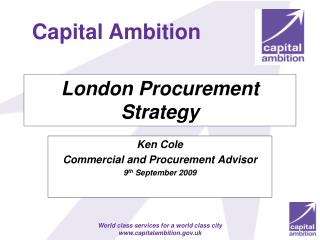 London Procurement Strategy