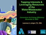 Tapping Interests  Leveraging Resources of the Water