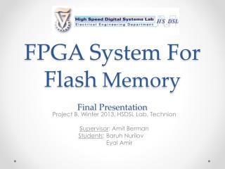 FPGA System For Flash  Memory Final Presentation