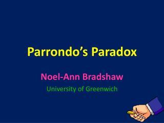 Parrondo's  Paradox