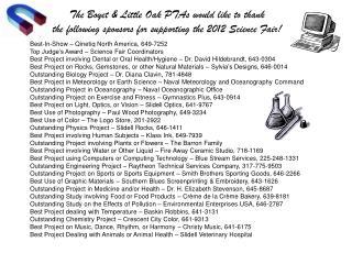 The Boyet & Little Oak PTAs would like to thank