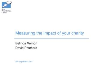 Measuring the impact of your charity