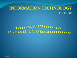 INFORMATION TECHNOLOGY CSEC CXC