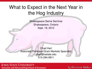 What to Expect in the Next Year in the Hog Industry