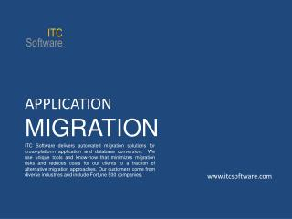 APPLICATION MIGRATION