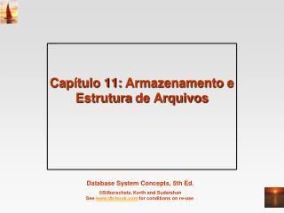 Capítulo  11:  Armazenamento  e  Estrutura  de  Arquivos