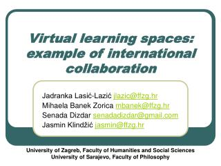 Virtual learning spaces: example of international collaboration