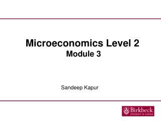 Microeconomics Level 2 Module 3