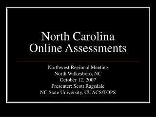 North Carolina Online Assessments