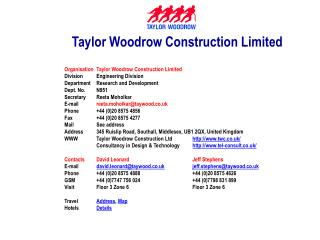 Taylor Woodrow Construction Limited