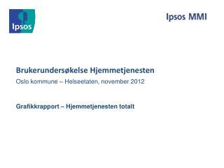 Brukerundersøkelse Hjemmetjenesten  Oslo kommune – Helseetaten, november 2012