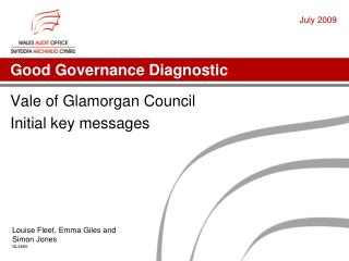 Good Governance Diagnostic