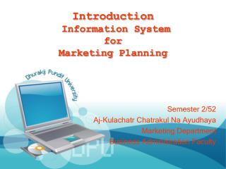 Introduction  Information System for Marketing  Planning