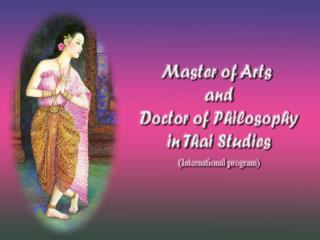 Master of Arts in Thai Studies