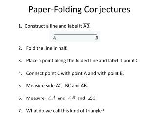 Paper-Folding Conjectures
