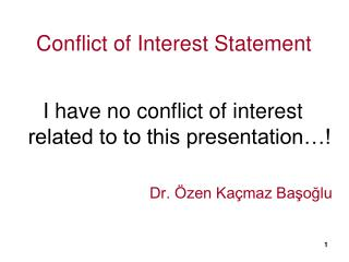 Conflict of Interest Statement