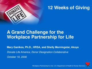 12 Weeks of Giving