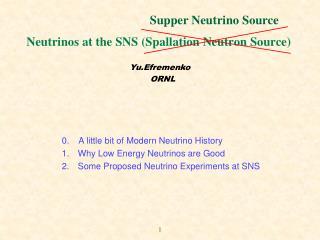 Neutrinos at the SNS (Spallation Neutron Source)