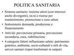 POLITICA SANITARIA
