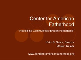 Center for American Fatherhood