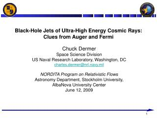 Black-Hole Jets of Ultra-High Energy Cosmic Rays: Clues from Auger and Fermi