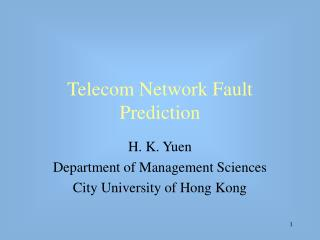 Telecom Network Fault Prediction
