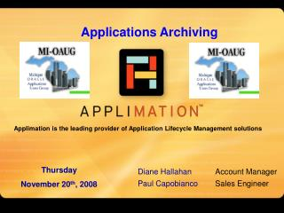 Applimation is the leading provider of Application Lifecycle Management solutions