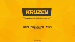Betting Types Explained – Sports