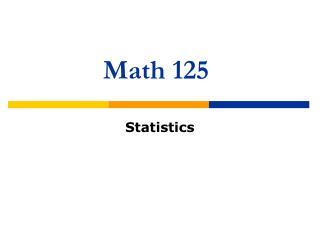 Math 125