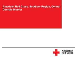 American Red Cross, Southern Region, Central Georgia District