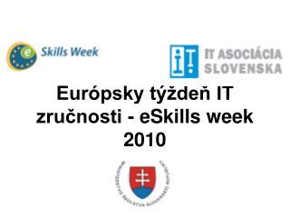 Európsky týždeň IT zručnosti - eSkills week 2010