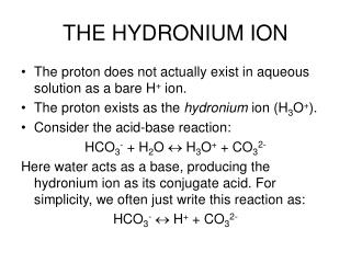THE HYDRONIUM ION