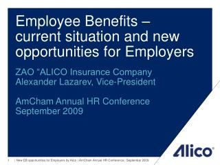 Employee Benefits – current situation and new opportunities for Employers