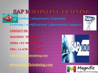SAP MM ONLINE TRAINING IN AUSTRALIA