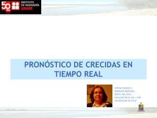 PRON�STICO DE CRECIDAS EN TIEMPO REAL