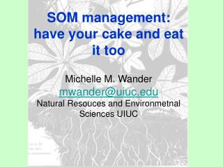SOM management: have your cake and eat it too Michelle M. Wander mwander@uiuc