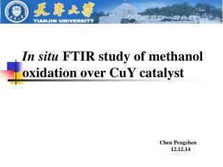 In situ  FTIR  study of  methanol oxidation over  CuY catalyst