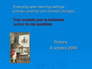 Poitiers 6 octobre 2005