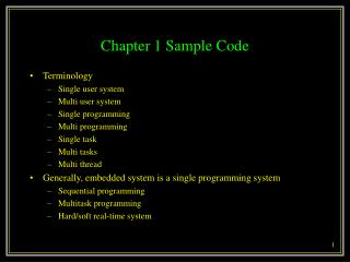 Chapter 1 Sample Code
