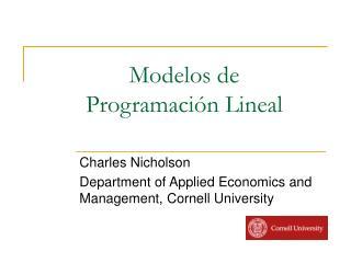 Modelos de  Programaci n Lineal