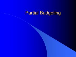 Partial Budgeting
