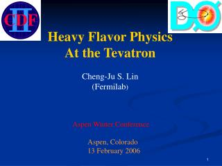 Heavy Flavor Physics At the Tevatron Cheng-Ju S. Lin (Fermilab )  Aspen Winter Conference
